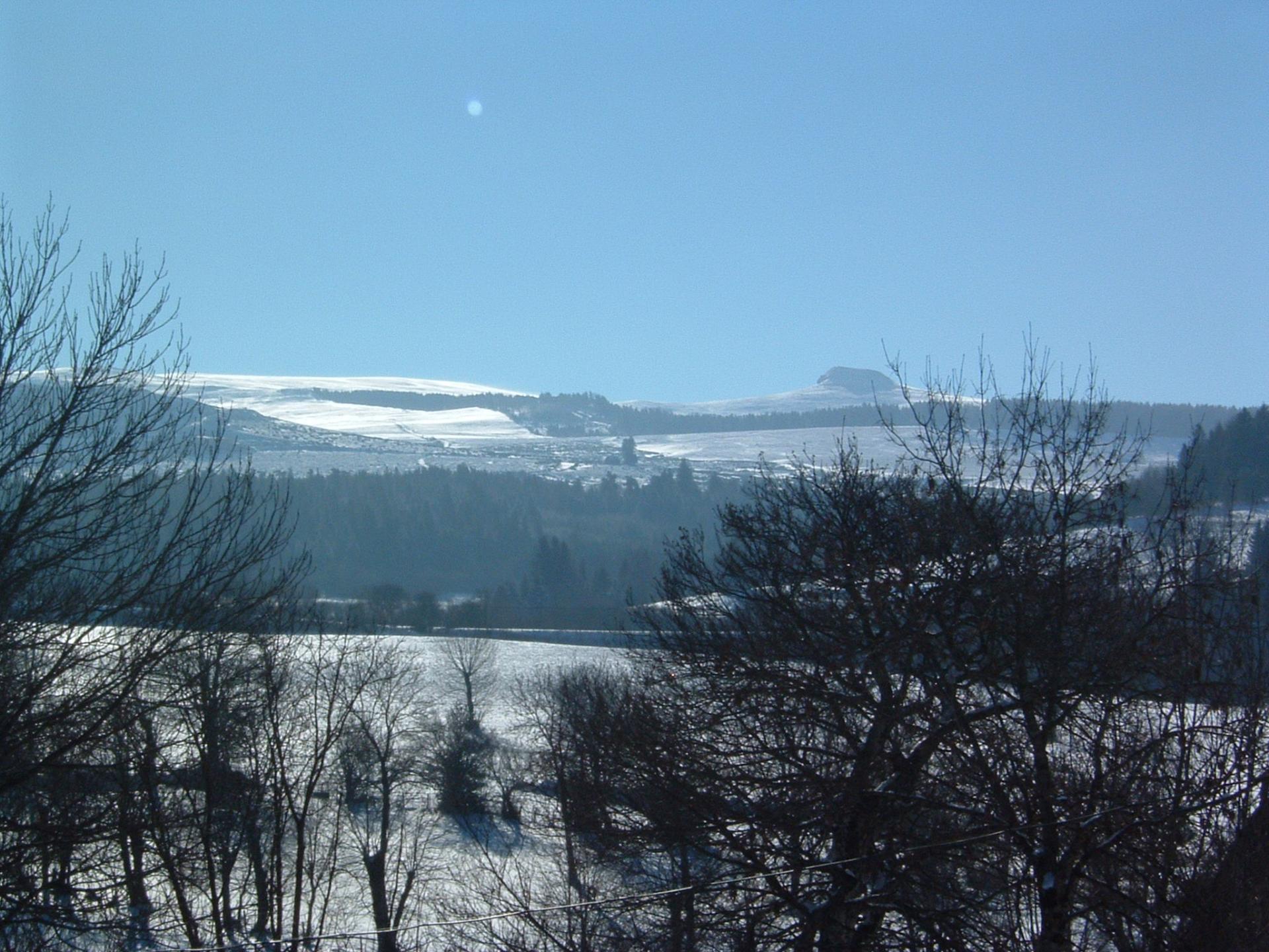 Paysage  de neige vu du village